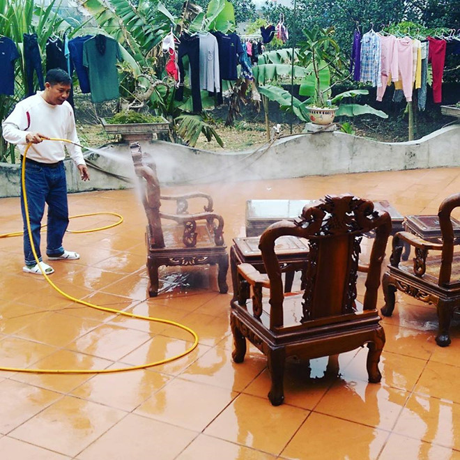 TET - Lunar New Year 2019 in Vietnam cleaning the house