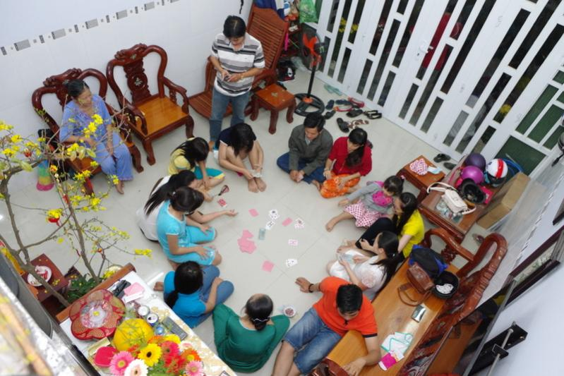 TET - Lunar New Year 2019 in Vietnam playing blackjack in Tet