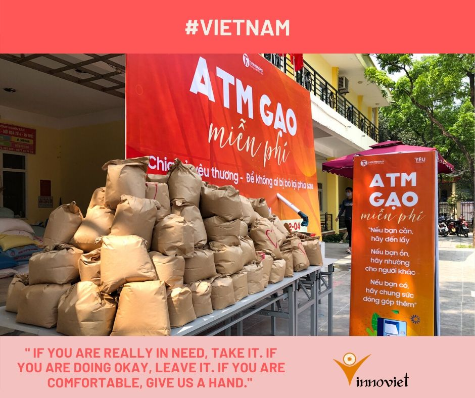 Rice ATM for the poor. Too good to be true but it's true in Vietnam